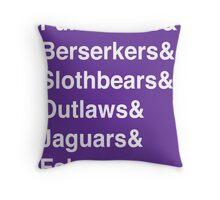 ECQ House League Teams Throw Pillow