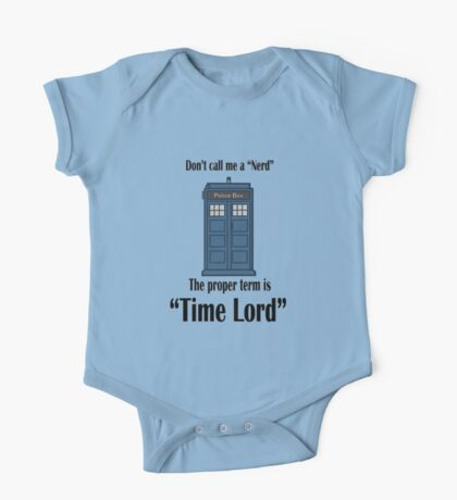 "The Term is ""Time Lord"" One Piece - Short Sleeve"