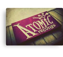Atomic Records Vintage Sign Canvas Print