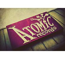 Atomic Records Vintage Sign Photographic Print