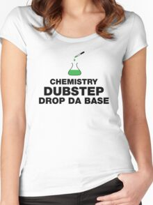 Dubstep And Chemistry Humor Women's Fitted Scoop T-Shirt