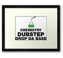 Dubstep And Chemistry Humor Framed Print