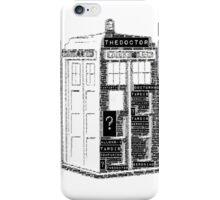 Tardis Word Art iPhone Case/Skin