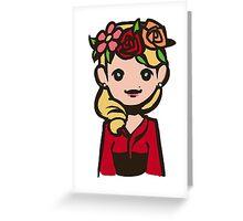 Bedelia flower crown Greeting Card