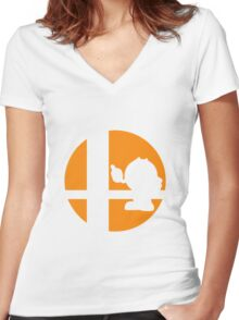 Pac-Man - Super Smash Bros. Women's Fitted V-Neck T-Shirt