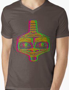 Mayan Alien Mens V-Neck T-Shirt