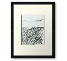 Indian summer. Stack on the hill ... Framed Print
