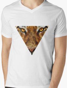 Animal Art - Tiger Mens V-Neck T-Shirt