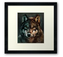 Animal Art - Wolf Framed Print