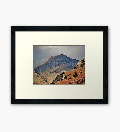 Stormy Langdales English Lake District Cumbria Framed Print