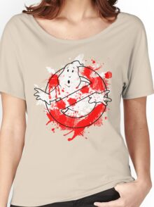 Ghostbusters Logo Paint Splatter Outline Women's Relaxed Fit T-Shirt
