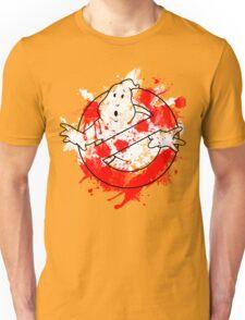 Ghostbusters Logo Paint Splatter Outline Unisex T-Shirt
