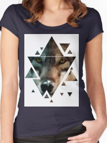 Animal Art - Wolf Women's Fitted Scoop T-Shirt