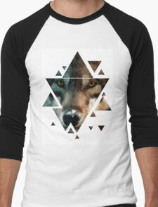 Animal Art - Wolf Men's Baseball ¾ T-Shirt