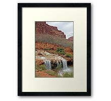Lower Navajo Falls of Havasu Creek  Framed Print