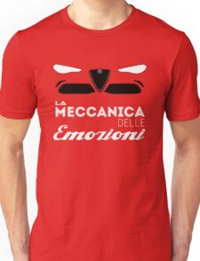 Alfa Romeo la meccanica delle emozioni Unisex T-Shirt