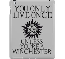 Supernatural - You Only Live Once iPad Case/Skin