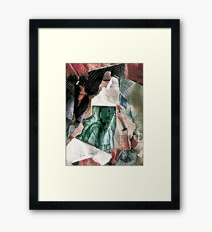 Slender Scraps Framed Print