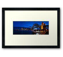 Sydney Skyline Panorama 2 Framed Print
