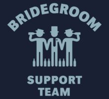 Bridegroom Support Team (Stag Party / Lightblue) by MrFaulbaum