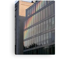 Rainbow Building Reflection Canvas Print