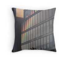 Rainbow Building Reflection Throw Pillow