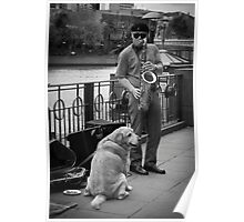 Busker and Friend Poster