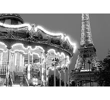 Paris Carousel Photographic Print