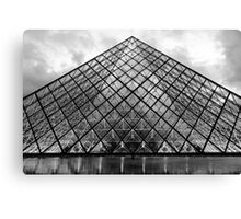 The Glass Pyramid Canvas Print