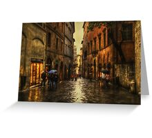Rainy Day in Sienna Greeting Card