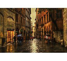 Rainy Day in Sienna Photographic Print