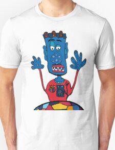 Goalkeeper, football, yellow, sport, monster, comic, children Unisex T-Shirt