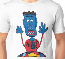 Goalkeeper, football, yellow, sport, monster, comic, children Unisex T-Shirt