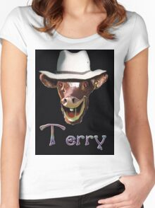 TERRY Women's Fitted Scoop T-Shirt