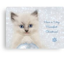 Have a Very Purrrfect Christmas Canvas Print