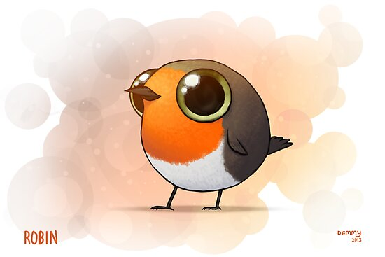 Small Fat Robin by Demmy
