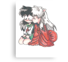 Inuyasha and Kagome  Canvas Print