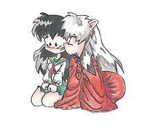 Inuyasha and Kagome  Photographic Print