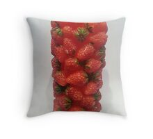 Strawberry Candle Tower Throw Pillow