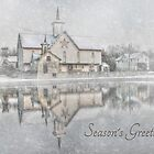 Seasons Greetings - Star Barn by Lori Deiter
