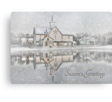 Seasons Greetings - Star Barn Canvas Print
