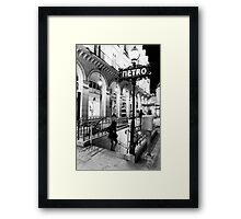 Paris Metro Framed Print