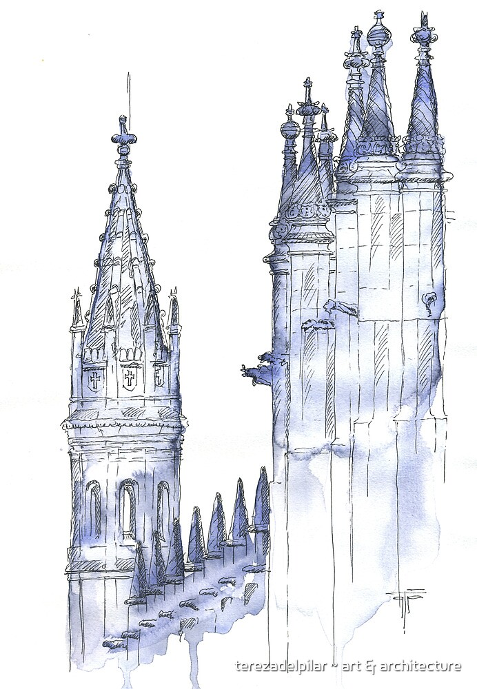 towers .  monastery by terezadelpilar ~ art & architecture