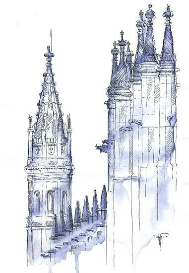 towers .  monastery by terezadelpilar~ art & architecture