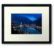 Blue hour in Uzungol Framed Print