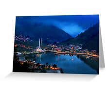 Blue hour in Uzungol Greeting Card