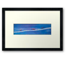 Red Arrows Fly Past Framed Print