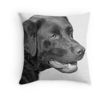 CHOCOLATE LABRADOR Throw Pillow