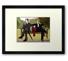 Stop flirting in front of the child, Gregory Framed Print