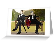 Stop flirting in front of the child, Gregory Greeting Card